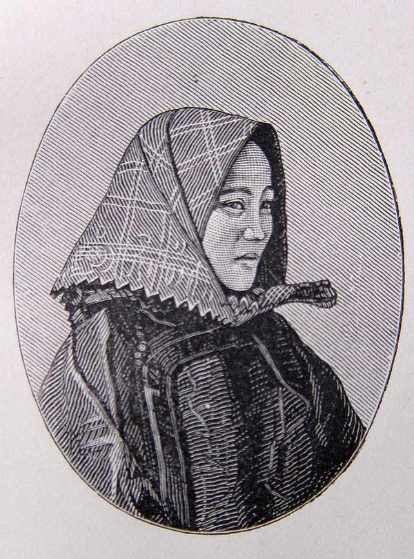 Boat Woman woodcut