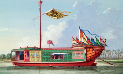 Flower boat painting